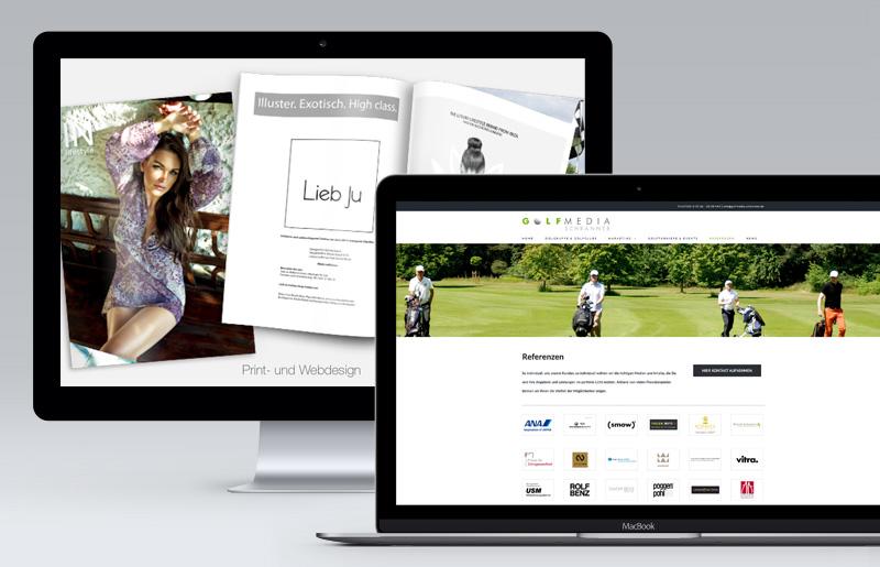 Print- und Webdesign, Filmproduktionen