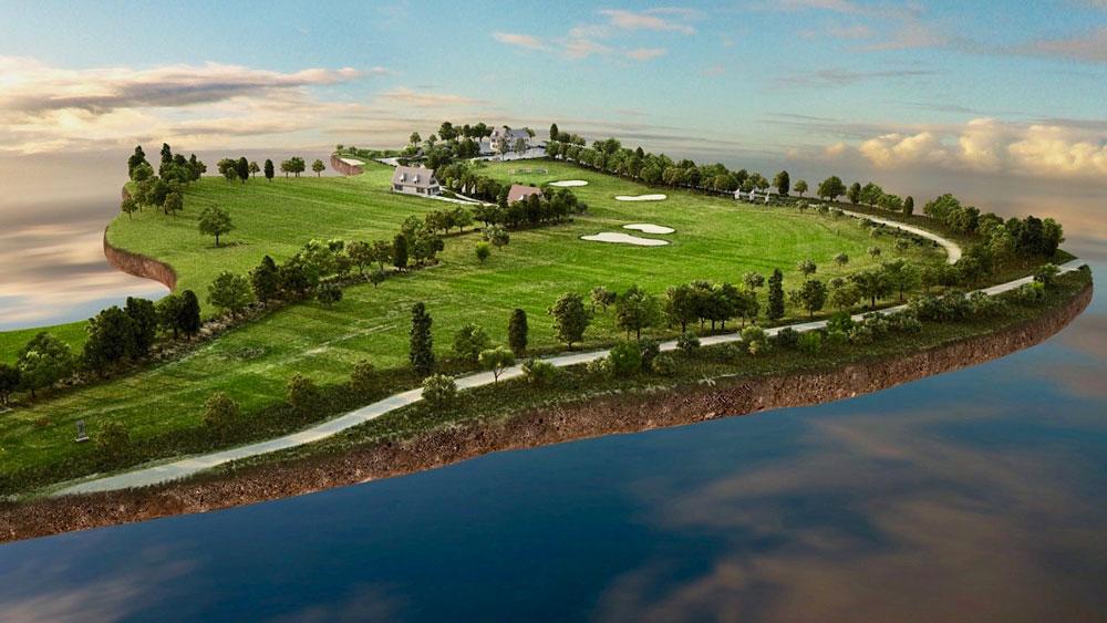 Golfplatz in 3D